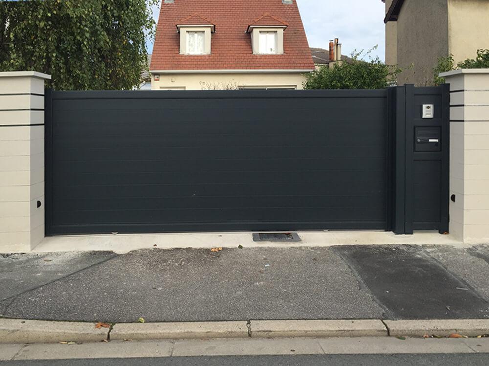 94550 Chevilly-Larue-Clôture, portail et portillon en aluminium gris anthracite