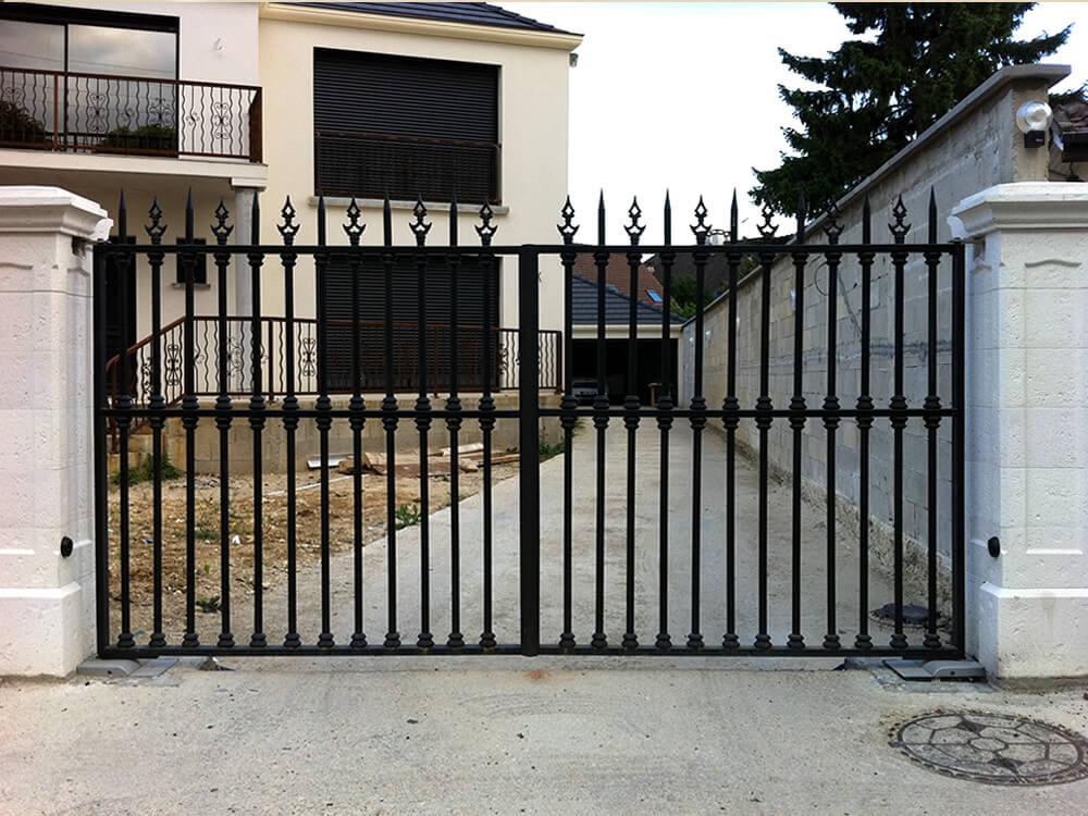 94430 Chennevières-sur-Marne – Portail, portillon, clôture, garde-corps, verrière en acier laqué noir